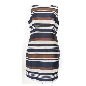 ANN TAYLOR Striped Sheath Dress 12P